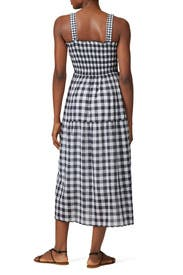 The Scallop Gingham Clover Dress by The Great.