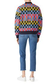 Checkered Bomber Jacket by Tory Sport