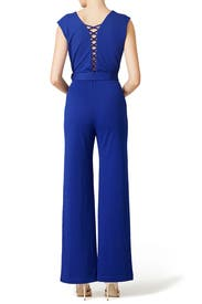 Navy Riviera Dance Jumpsuit by Yoana Baraschi