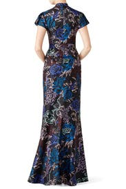 Wisp Floral Chiffon Dress by Emanuel Ungaro