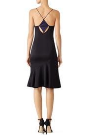 Midnight Black Slip Dress by GALVAN