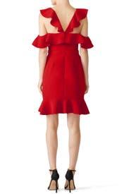 Red Delia Dress by Rachel Zoe