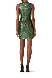 Emerald Sequin Dress by Badgley Mischka