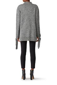 Grey Side Slit Sweater by Moon River