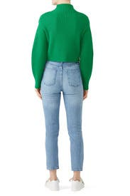 Green Rib Pullover by Tibi