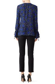 Collarless Bell Sleeve Top by Derek Lam 10 Crosby