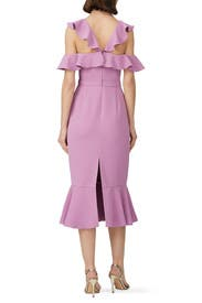 Lilac Ruffle Dress by Rachel Zoe