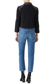 Knit Leather Jacket by KAUFMANFRANCO
