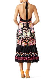Black Embroidered Midi Dress by Temperley London