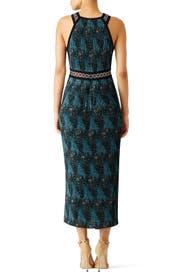 Mariner Blue Pleated Dress by Yigal Azrouël