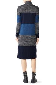 Striped Bowery Turtleneck Dress by rag & bone JEAN