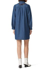 Embroidered Denim Dress by Coach