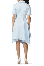 Sky Blue Shirt Dress by Badgley Mischka