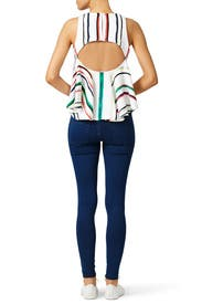 Multicolor St. Tropez Top by Milly