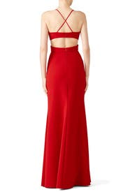 Red Cardinal Gown by Jill Jill Stuart
