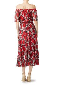 Red Floral Maxi by Fuzzi