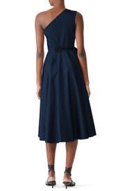 One Shoulder Wrap Dress by Rosetta Getty