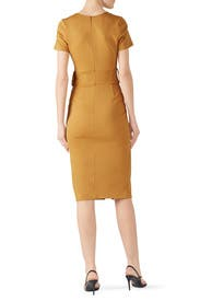 Mustard Belted Sheath by Slate & Willow