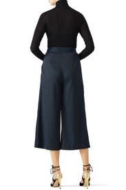 Blue Printed Culottes by Diane von Furstenberg