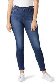 Blue 721 Hi Rise Skinny Jeans by Levi's