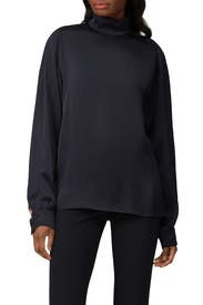 Blue Turtleneck Blouse by Cedric Charlier