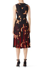 Aurora Pleated Midi Dress by Diane von Furstenberg