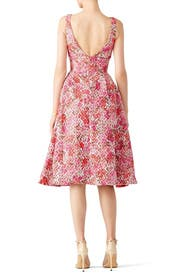 Pink Multi Floral Dress by ML Monique Lhuillier