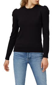 Knit Puff Sleeve Sweater by Co