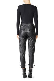 Faux Leather Lace Up Pants by The Kooples
