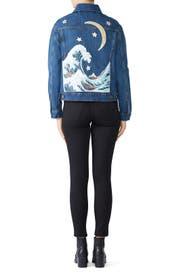 The Great Wave Denim Jacket by Denim & Bone