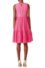 Pink Eyelet Peasant Dress by MDS Stripes