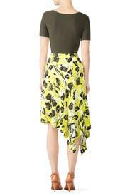Citrus Floral Collage Skirt by Derek Lam 10 Crosby
