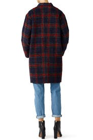 Addison Plaid Cocoon Coat by Ellie Mae