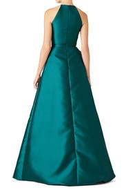 Teal Sculptural Gown by Badgley Mischka