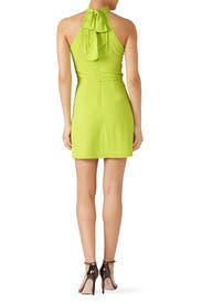 Lime Drape Front Dress by Halston Heritage