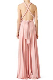 Blush Classic Convertible Gown by twobirds