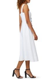 White Button Front Midi Dress by kate spade new york