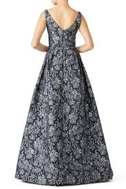Floral Slate Ballgown by Theia