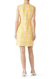 Yellow Plaid Dress by Tory Burch