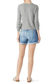 Parker Denim Shorts With Raw Cuff by PAIGE