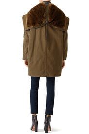 Olive Military Parka by VINCE.