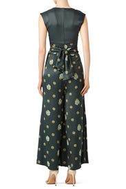 Green Printed Jumpsuit by Free People
