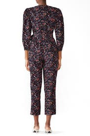 Floral Toile Wrap Jumpsuit by La Vie Rebecca Taylor