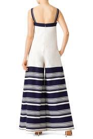 Blue Stripe Jumpsuit by Martin Grant