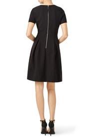 Black Crepe Vogue Dress by Pink Tartan