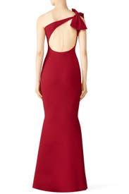 Red Bow Shoulder Gown by La Petite Robe di Chiara Boni