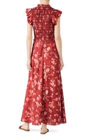 Merlot Monet Smocked Dress by Sea New York