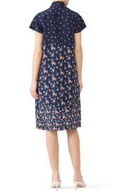Tie Neck Flare Dress by Becken