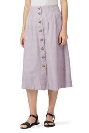 Patio Button Front Midi Skirt by Madewell