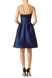 Navy Halter Dress by Theia